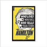 American Alexander Hamilton retrato póster y foto arte de pared imagen Hamilton música lienzo pintura familia sin marco pintura decorativa en lienzo L98 50x70cm