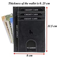 Style: Card Holder Number of card slots: 10 Material: Leather Dimensions: 11.5 cm x 8 cm x 0.3 cm Special Features: Super Slim; SMALL AND COMPACT