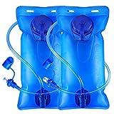 Poche à Eau Icetek - 2 l - sans BPA - Anti-Fuite - avec Valve autobloquante - pour vélo, Voyage,...