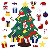 Felt Christmas Tree for Toddlers Kids Wall with 26pcs Detachable Ornaments DIY Set, Wall Hanging Xmas Gifts Christmas Decorations