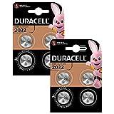 Pile bouton lithium Duracell spéciale 2032 3V, pack de 8 (DL2032/CR2032),...