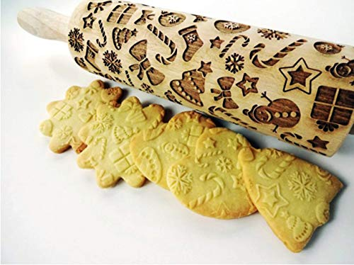 CHRISTMAS GIFTS EMBOSSING ROLLING PIN