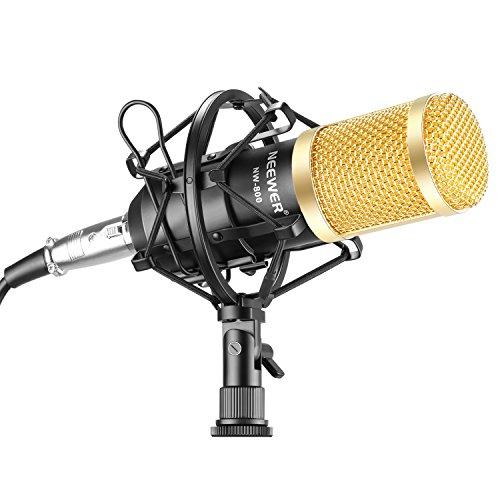 Neewer NW-800 Studio - Microfono a condensatore professionale, in schiuma, anti-vento, con tappo e...