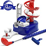 iPlay, iLearn Kids Golf Toys Set, Outdoor Lawn Sport Toy, Training Golf Balls & Clubs Equipment, Indoor Exercise, Outside Yard Active Gifts for 3 4 5 6 7 8 Year Olds Boys Toddlers Children Girls