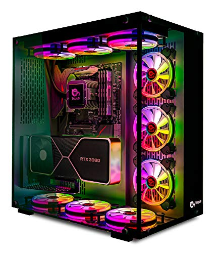 Talius Cronos Caja Gaming ATX, Cristal Templado, Ventiladores Iris RGB (Disponible en Tres Colores) (Black)