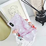 Cocomii Square Marble iPhone Xs Max Case, Slim Thin Glossy Soft Flexible TPU Silicone Rubber Gel Trunk Box Square Edges Fashion Phone Case Bumper Cover for Apple iPhone Xs Max 6.5 Inch 2018 (Pink)