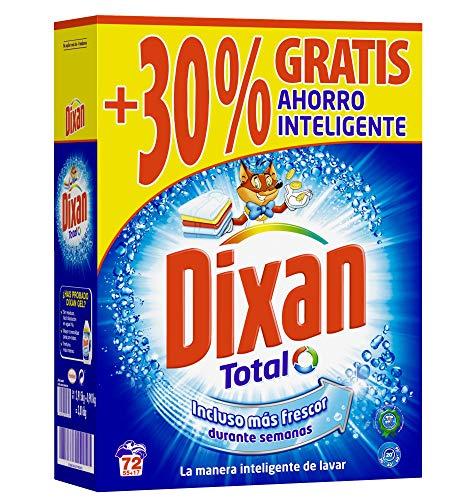 Dixan Detergente Polvo Total para Lavadora - 55+30%, Total 7