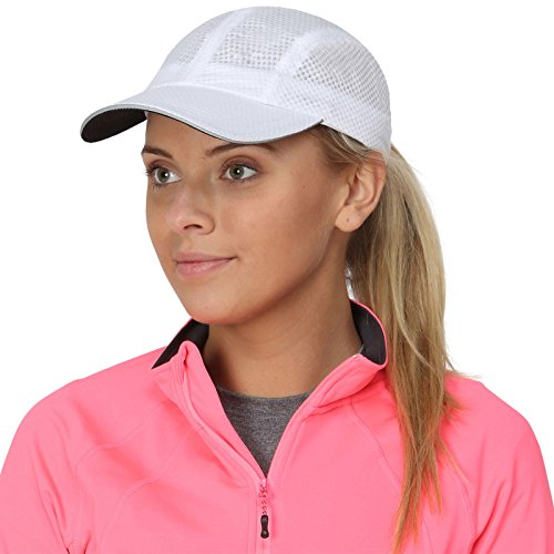 TrailHeads Race Day Performance Running Hat | The Lightweight, Quick Dry, Sport Cap for Women (white)
