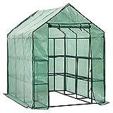 D4P Display4top Serre de Jardin PE Plastique Tente abri 143 x 216 x 195 cm,avec 8 étagères