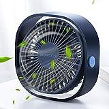 SmartDevil Small Personal USB Desk Fan,3 Speeds Portable Desktop Table Cooling Fan Powered by...