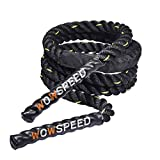 FAMURE Home Gym Accessories 3LB-9.2ft Heavy Jump Rope with Nylon Protective Cover-Professional Home Gym Equipment Heavy Weighted Jump Rope, for Whole Body Strength Training, Rope Jump