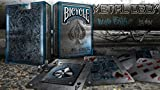 Bicycle Blue Metal Deck Rare Limited Custom Playing Cards - Poker Casino Cartes...