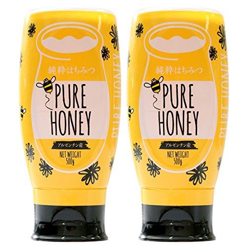 はちみつ 専門店【かの蜂】 アルゼンチン産 純粋はちみつ PURE HONEY 500g×2本 セット 完熟の 純粋 蜂蜜