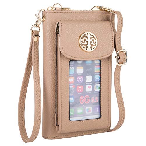 513dcT7cWpL Wallet with outside cell phone pocket Mini crossbody wristlet is removeble