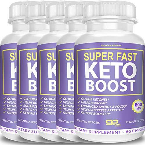 Super Fast Keto Boost - Go BHB Ketones - Burn Stubborn Fat - Enhanced Energy & Focus - Suppress Appetite - Ketosis Booster - Supremal Nutrition (5 Month Supply) 1