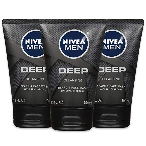 NIVEA Men DEEP Cleansing Beard & Face Wash - With...