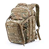 Poooooi Mochila Táctica Militar Mountaineering Assault Bag Expansion Bag 45L Sistema De Molle De Gran Capacidad Mochila De Nylon Hombres Y Mujeres,Camuflaje