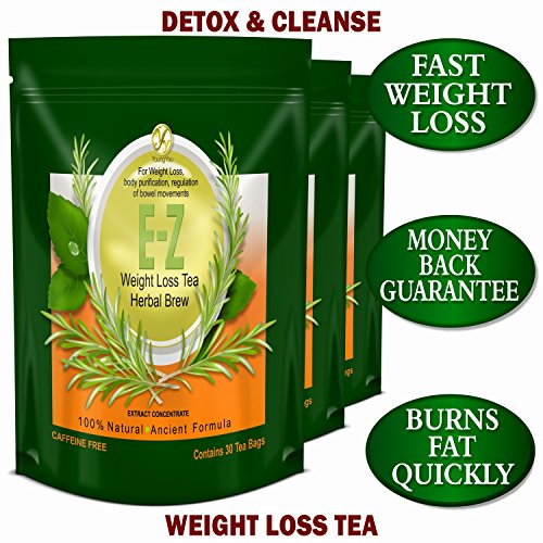 E-Z Detox Tea for Weight Loss and Belly Fat - Appetite Control - Body Cleanse – Detox 3 Pack 5