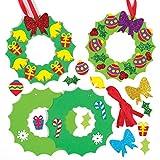 Baker Ross Kits de décorations couronnes de Noël à Assortir (Paquet de...