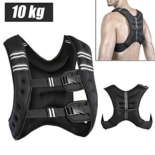 YIFAA Gilet lesté,10kg Gilet d'entraînement Gilet de Course Taille Unique pour Gym Formation