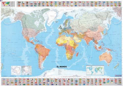 Mapa en tubo El Mundo (Mapas en tubo y plastificados Michelin)