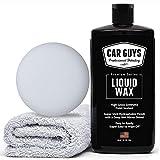 CAR GUYS Liquid Wax - The Ultimate Car Wax Shine with Polymer Paint Sealant Protection! - 16 Oz Kit