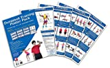 Dumbbell Training Poster Pack: Dumbbell Workout Routines - Dumbbell Exercises Poster - Dumbbell Workout Chart - Dumbbell Workout Poster - Dumbbell ... Fitness Wall Chart - Strength Training Poster