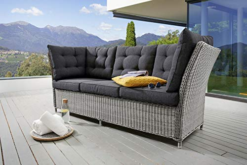 Destiny 3er Loungesofa Palma Vintage Weiß Lounge Sofa Gartensofa Dininglounge