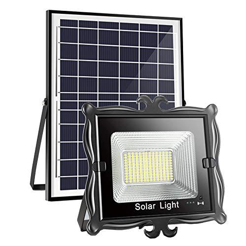 ESTEAR Luci di Inondazione Solari A LED Luci da Esterno dal Tramonto All'alba Lampada Solare Lampada Solare IP65 Luci di Inondazione Ad Energia Solare Impermeabili Luci A LED con Interruttore