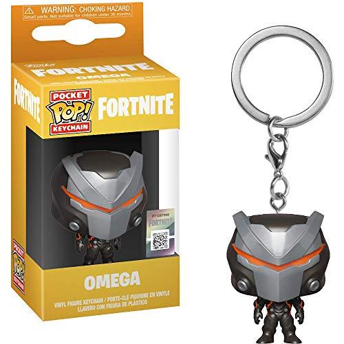 Funko Omega: Fortnite x Pocket POP! Mini-Figural llavero + 1 juego de cartas temáticas de videojuegos [36961]