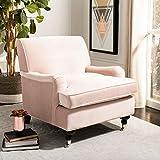 Safavieh Home Chloe Blush Pink Velvet Club Chair