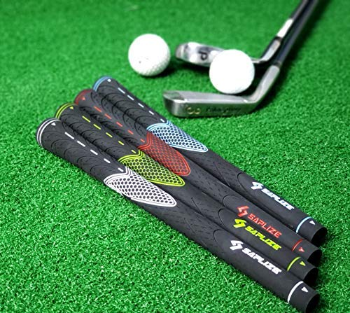 Product Image 5: SAPLIZE Golf Grips Set of 13 with Complete Regripping Kit, Midsize, Rubber Golf Club Grips, Green CC01S Series