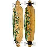 Krown Krex 2 Bamboo Freestyle Complete Longboard, 9.25x41-Inch