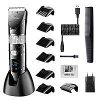 Hatteker Cordless Hair Trimmer Pro Hair Clippers Beard Trimmer for Men Haircut Kit Cordless USB...