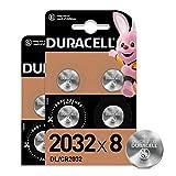 Duracell 2032 Pile bouton lithium 3V, lot de 8, avec Technologie Baby Secure,...