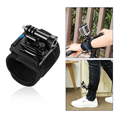 FEIMUOSI per Cinturino Polso GoPro,Gopro Polso 360 Gradi Rotante per GoPro Hero 8 7 6 5 4 Accessorio Polso Gopro fissato al Polso o al Braccio con Vite zigrinata Leggero Facile da sparare