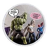SDFGS Avengers Hulk Spiderman Demon Impression Ronde Microfibre Serviette...