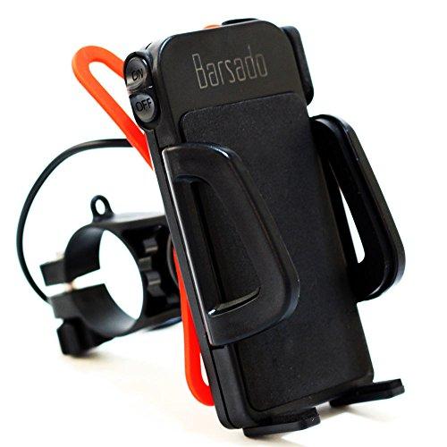バイク スマホホルダー USB 電源 ON/OFFスイッチ 付属 2.4A(5V / 2.4A) 急速充電防水仕様 スマートフォン ...