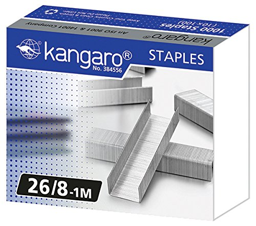 Kangaro ka26/81m punti per cucitrice punto 26/81m, 1000pezzi