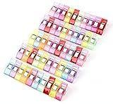 Lot de 50PCS Clips Pinces en Plastique pour Reliure Couture Artisanat...