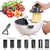 Jeslon Légumes Mandoline Slicer - 12 en 1 Spiralizer Légumes Cutter and...