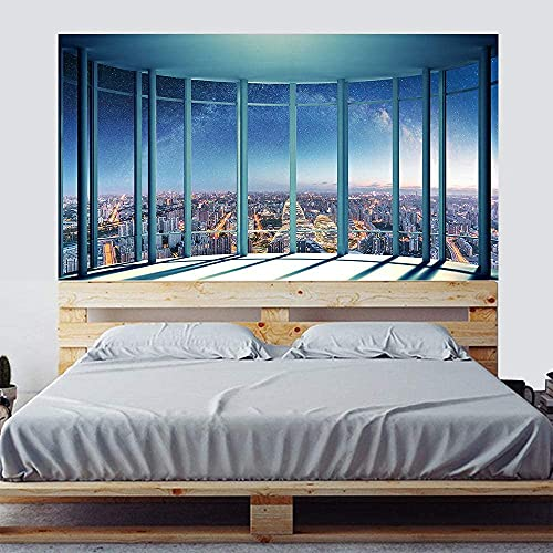 MISSSIXTY Headboard Sticker Wall Decal Mural Peel and Stick Self-Adhesive Vinyl Wall Stickers Wallpaper Art Decor for Home Bedroom Dorm Decoration, 35.43