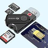 Eletrand Smart Lecteur de Cartes | Électronique Lecteur de Carte D'identité et...