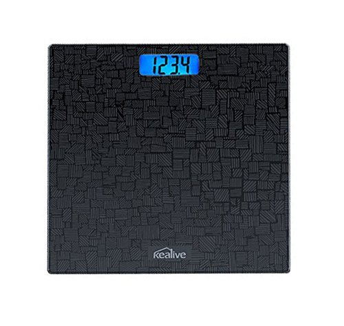 Kealive Digital Scale, Body Fat Scale, Bathroom Scale, Smart BMI Scale, Body Composition Analyze, 400 Pounds Scales (White)