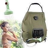 KIPIDA солнечный душ на открытом воздухе, 20л кемпинг душ сумка для воды на солнечной батарее с подогревом сумка для кемпинга с насадкой для душа садовый душ душ для бассейна душ с теплой водой, открытый кемпинг
