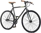 BIKESTAR Vélo de Route VTC 28 Pouces CTB | Vélo Urbain Fixie Single Speed...