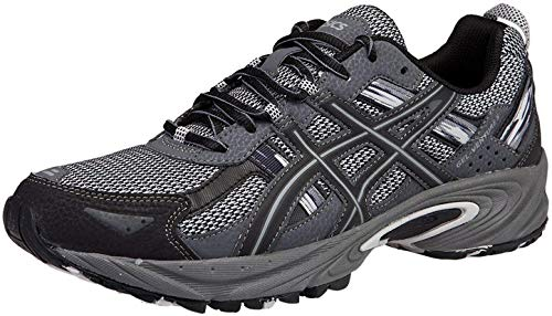 ASICS Men's Gel Venture 5 Trail Running Shoe, Silver/Onyx/Black, 10.5 M US