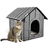 PUPPY KITTY Maison pour Chat Extérieur, Hiver Chat Cabane Niche,...