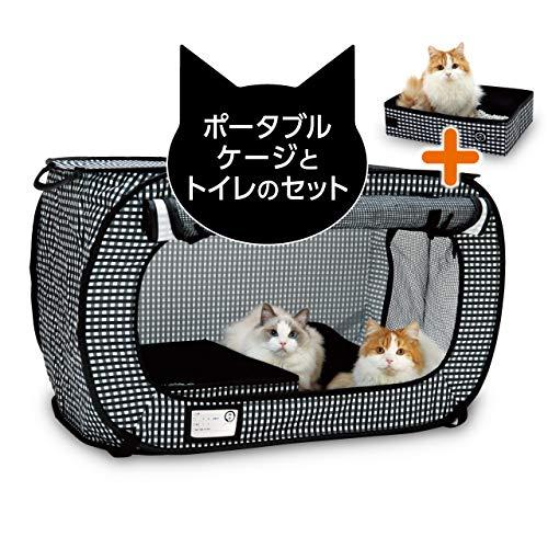 猫壱 ポータブルケージとトイレのセット