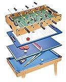 Tachan–Table Jeu 4en 1avec Pieds, 81.5x 43x 65cm (CPA Toy Group hg2074)
